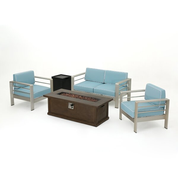 Royalston 5 Piece Sofa Set with Cushions by Brayden Studio