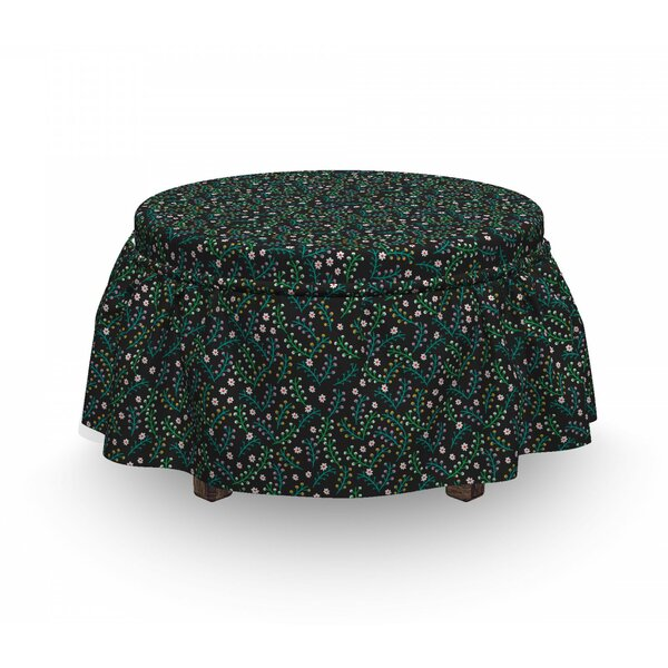 Tiny Petals With Sprouts Ottoman Slipcover (Set Of 2) By East Urban Home