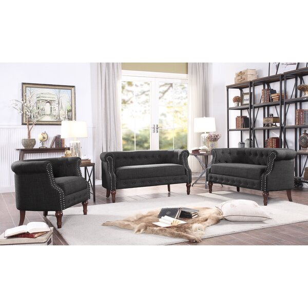 Celestia 3 Piece Living Room Set by Alcott Hill Alcott Hill
