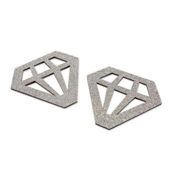 Glitter Diamond Shaped Trivet (Set of 24) by Mercer41