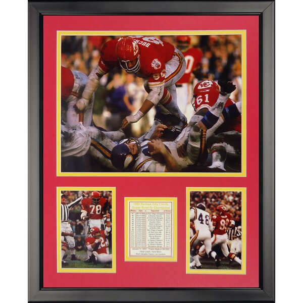 NFL Kansas City Chiefs - Super Bow IV Action Framed Memorabili by Legends Never Die
