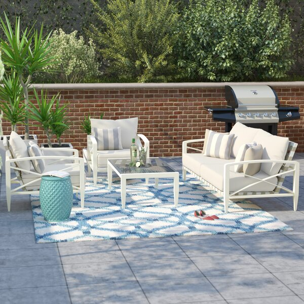 Senter 4 Piece Sofa Set with Cushions by Brayden Studio