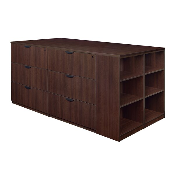 Linh Stand Up 2 Desk Quad 6-Drawer Lateral Filing Cabinet by Latitude Run