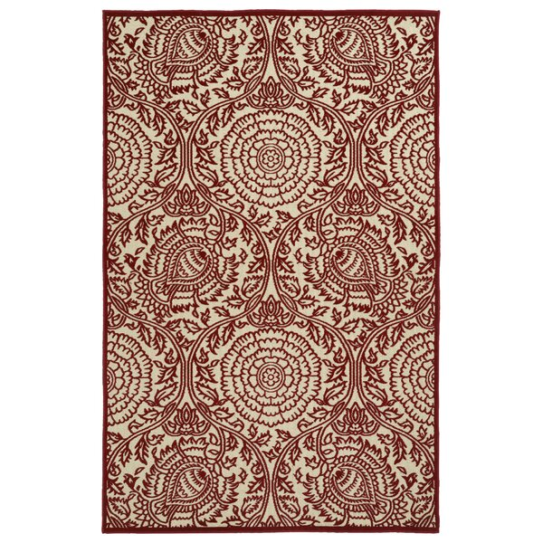 Covedale Machine Woven Red Indoor/Outdoor Area Rug by Charlton Home