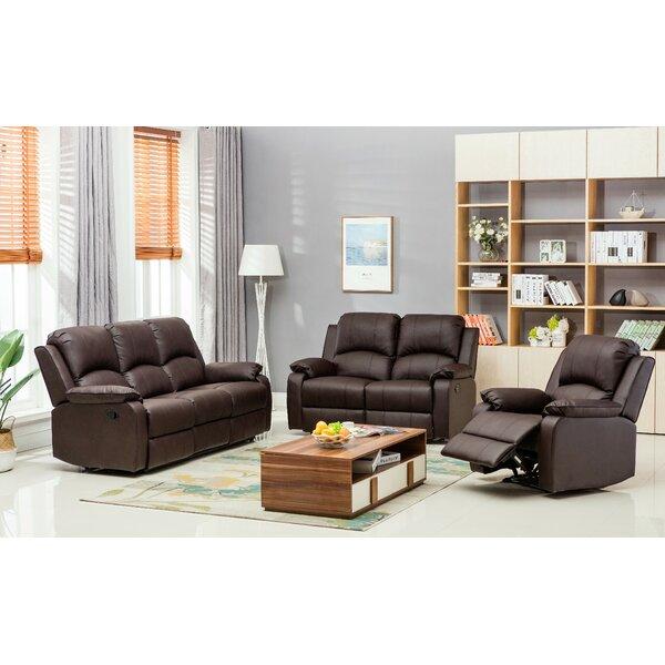 Willian Reclining 3 Piece Leather Reclining Living Room Set By Latitude Run