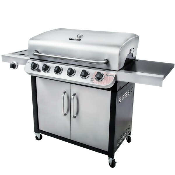 Performance™ 6-Burner Liquid Propane Gas Grill with Cabinet by Char-Broil