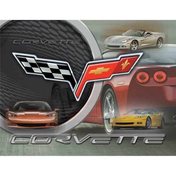 Corvette C6 Graphic Art on Canvas by Holland Bar Stool