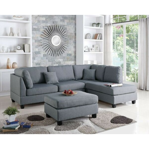 Corry Reversible Sectional With Ottoman By Ebern Designs