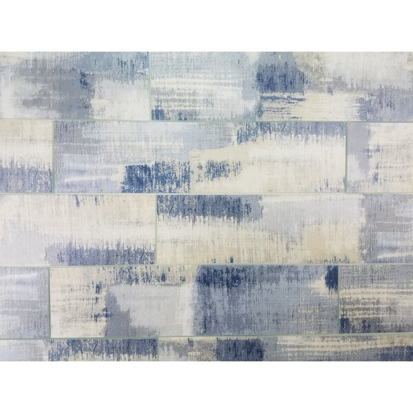 Nature 4 x 16 Glass Subway Tile in Cement Blue/Gray by Abolos