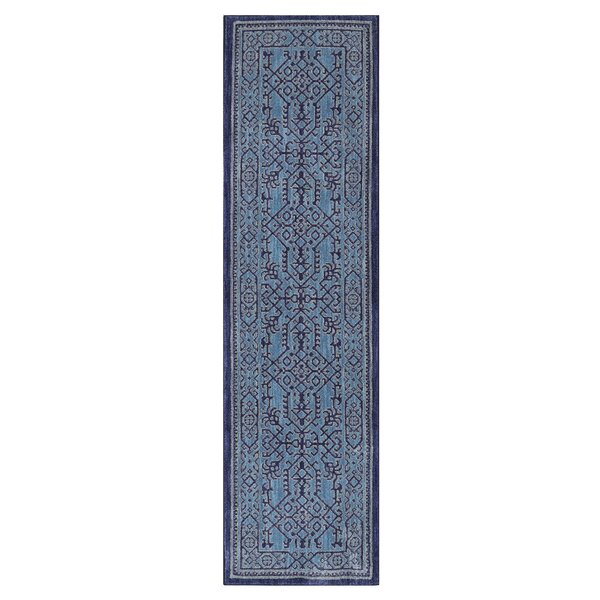 Dayton Blue Area Rug by Bungalow Rose