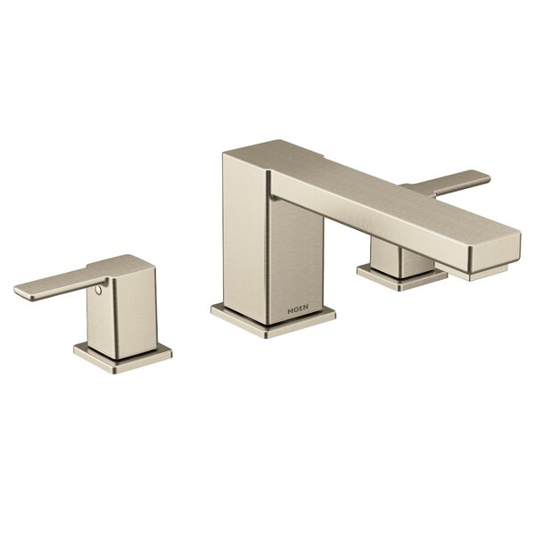 90 Degree Double Handle Deck Mounted Roman Tub Faucet Trim By Moen