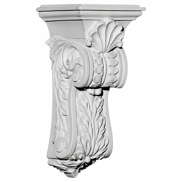 Scroll Leaf 13/4H x 4 5/8W x 5 1/4D Corbel by Ekena Millwork