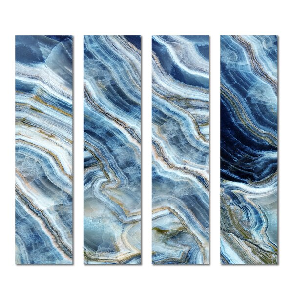 3 x 12 Beveled Glass Subway Tile in Blue by Upscale Designs by EMA