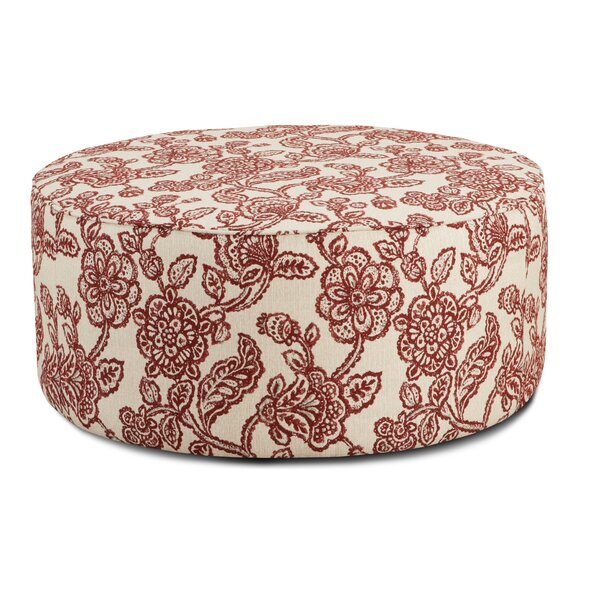 Seder Crimson Cocktail Ottoman by Charlton Home