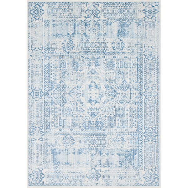 Gomez Blue Area Rug by Bungalow Rose