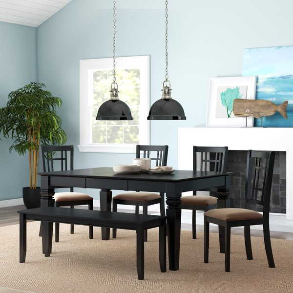 Pennington 6 Piece Extendable Dining Set by Beachcrest Home