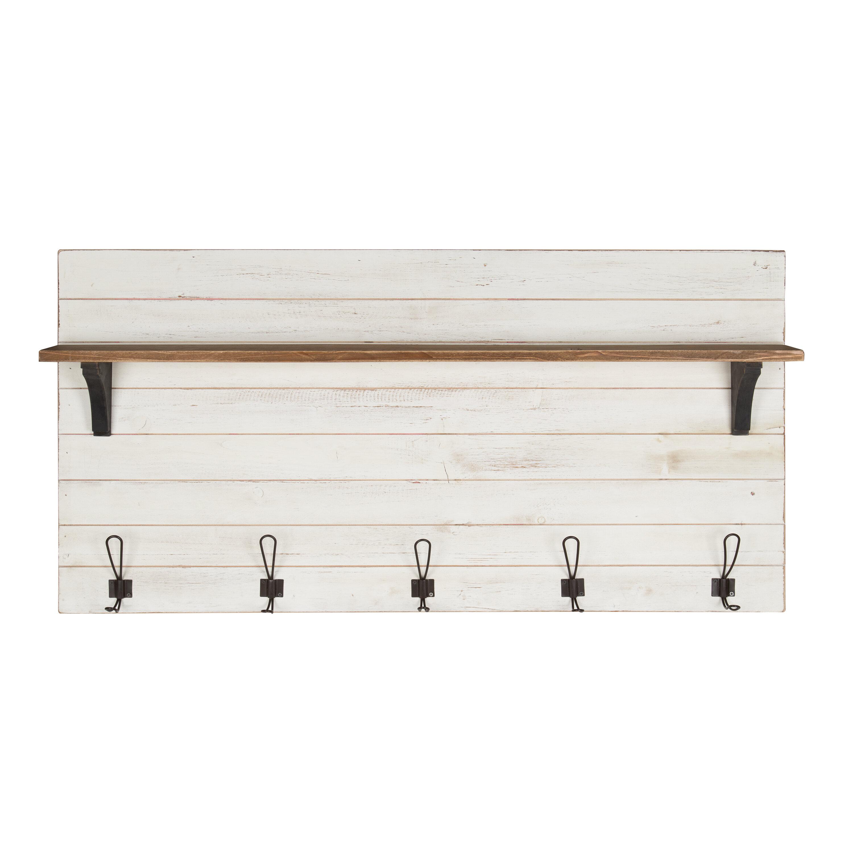 Gracie Oaks Joachim Wall Mounted Coat Rack With Shelf Reviews
