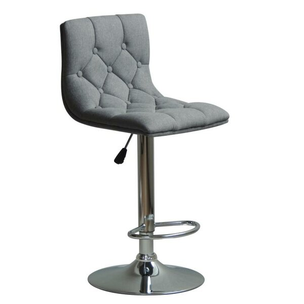 Silvester Adjustable Height Swivel Bar Stool by Orren Ellis
