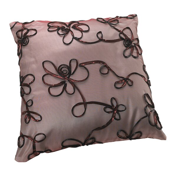 Venetian Vintage Embroidered Floral Design Decorative Throw Pillow by Violet Linen