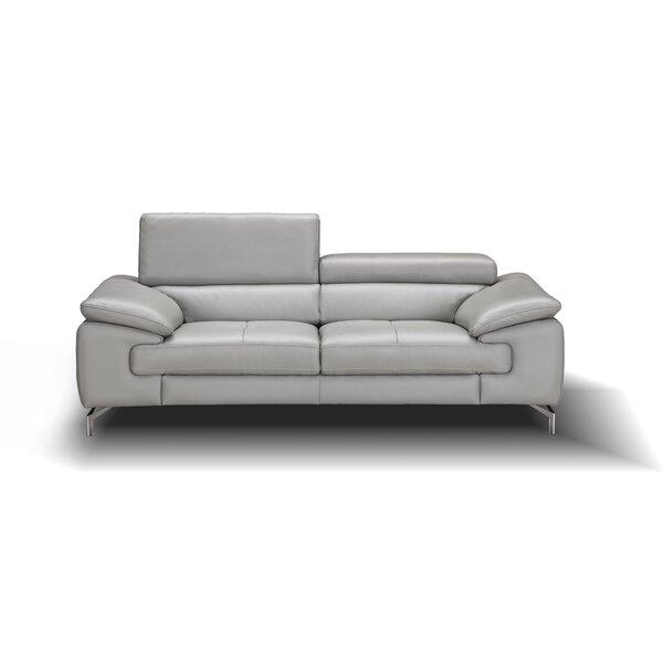 Mayer Leather Sofa by Orren Ellis