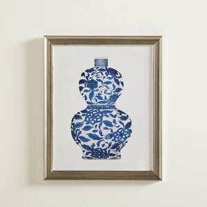 Porcelain Vase Framed Graphic Art Print by Birch Lane™