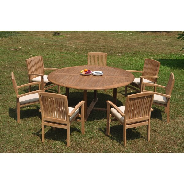 Ana 8 Piece Teak Dining Set by Rosecliff Heights
