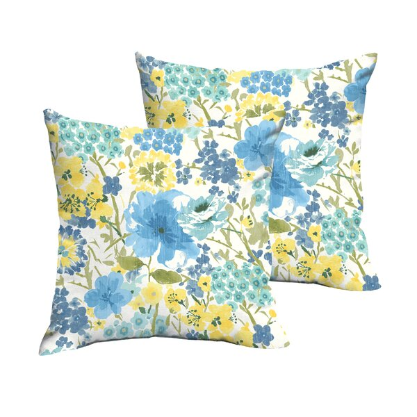 Kerrick Indoor/Outdoor Throw Pillow (Set of 2) by Winston Porter