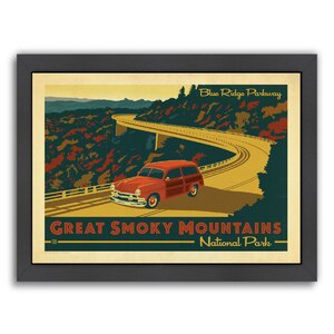 Great Smoky Mountain by Anderson Design Group Framed Vintage Advertisement by Americanflat