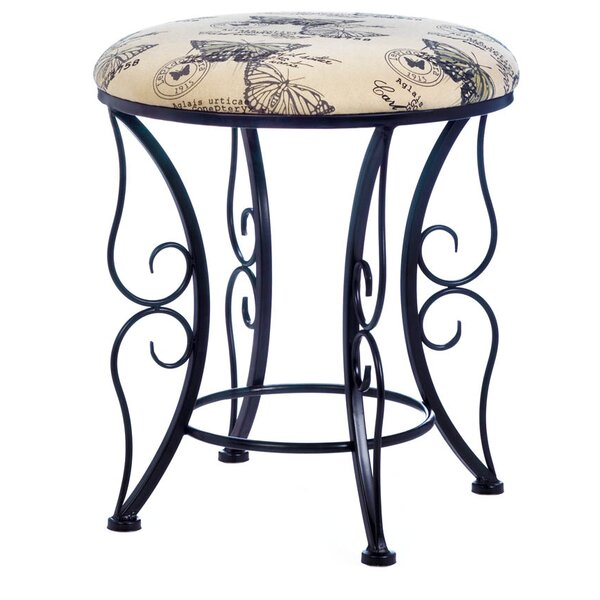 Nelia Butterfly Printed Accent Stool by Ophelia & Co.