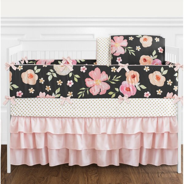 Watercolor Floral 9 Piece Crib Bedding Set by Sweet Jojo Designs