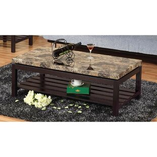 Cepeda Wooden Coffee Table with Storage By Winston Porter