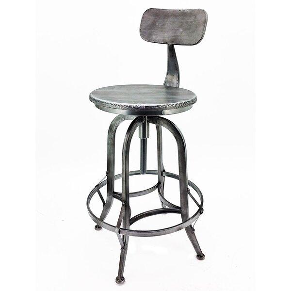 Arthur Adjustable Height Swivel Bar Stool by Vandue Corporation