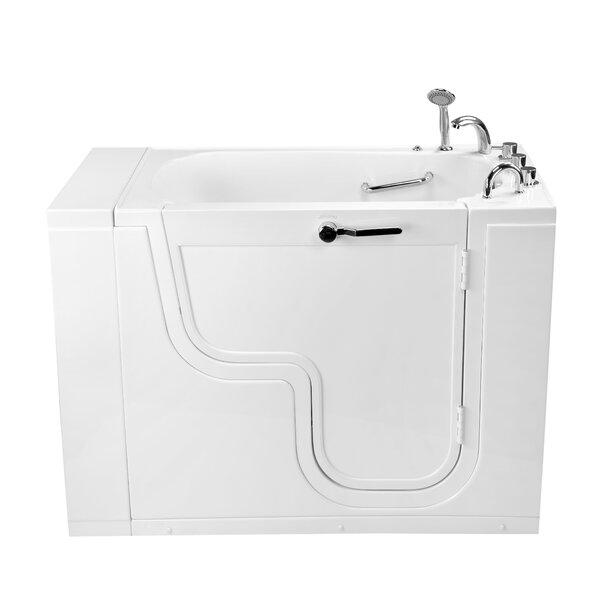 Transfer26 Wheelchair Accessible Acrylic with Right Outward Swing Door 26 x 26 Walk-In Bathtub by Ella Walk In Baths