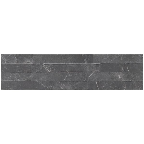 Midnight 6 x 24 Porcelain Field Tile in Black by MSI