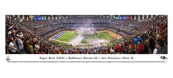 NFL Super Bowl 2013 by Christopher Gjevre Photographic Print by Blakeway Worldwide Panoramas, Inc