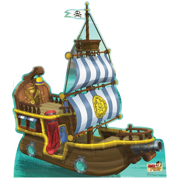 Bucky the Pirate Ship / Disney Jake and Neverland Pirates Cardboard Standup by Advanced Graphics