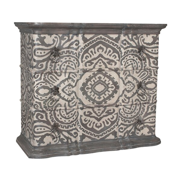 Gavyn Classic 3 Drawer Accent Chest by Bungalow Rose
