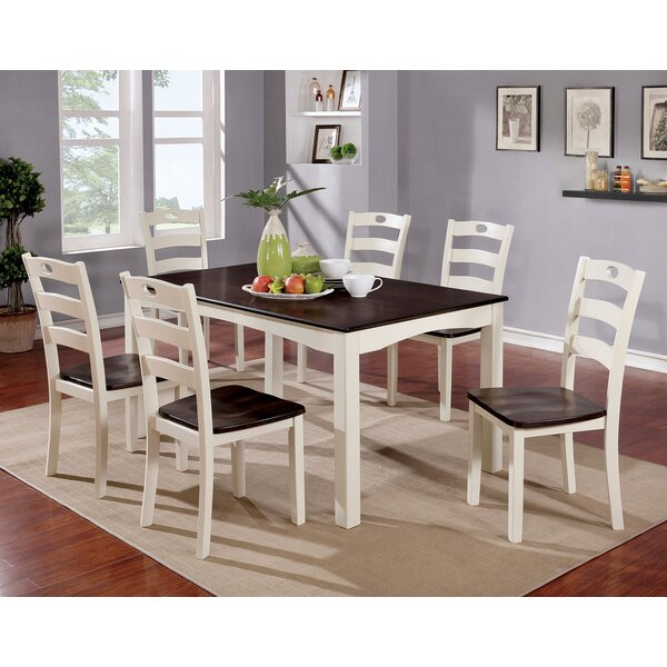 Kinchen Wooden 7 Piece Counter Height Dining Table Set by Red Barrel Studio
