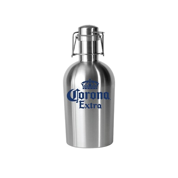 Corona Stainless Crown Logo 64 oz. Growler by PB