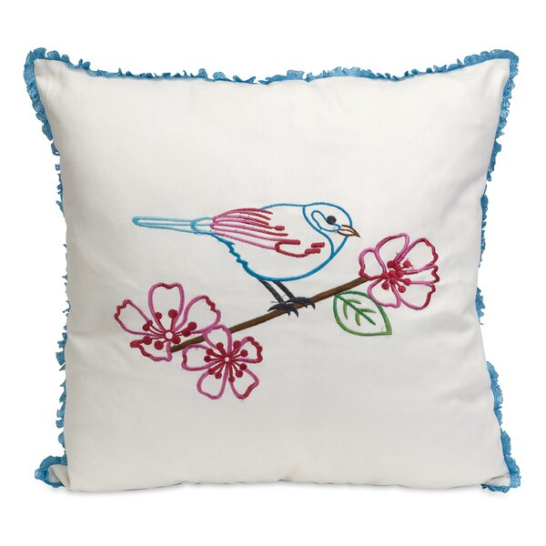 Clora Embroidered Cotton Throw Pillow by Alcott Hill