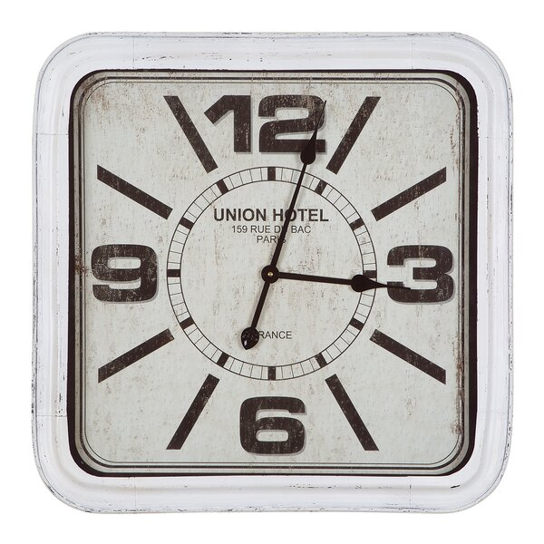Oversized Hotel Wall Clock by Gracie Oaks