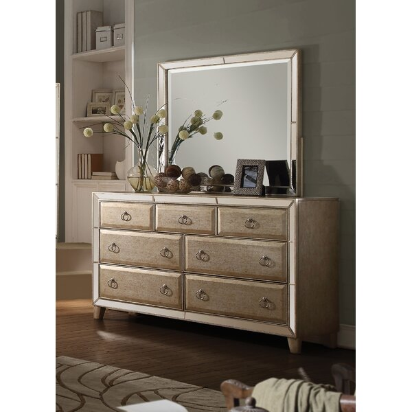 Hester 7 Drawer Dresser with Mirror by Rosdorf Park