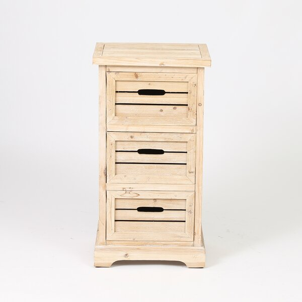 Sheryll Natural 3 Drawer Accent Cabinet by August Grove