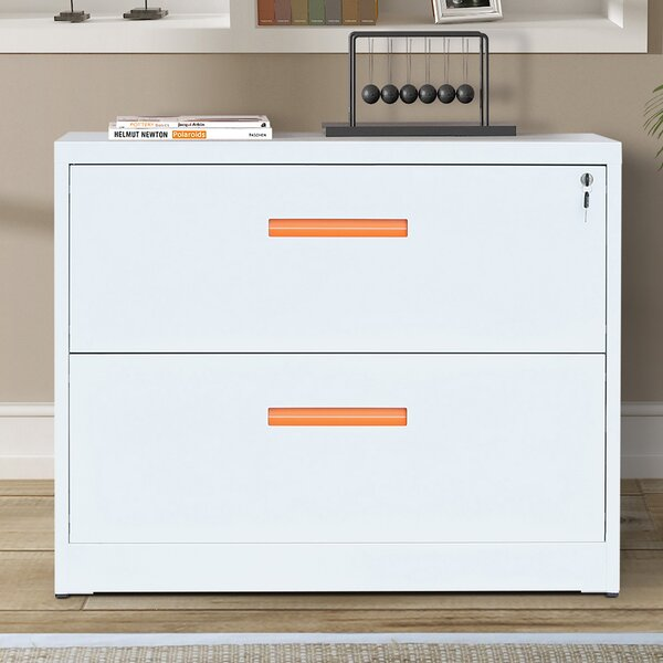 Carvey 2-Drawer Metal Lateral Filing Cabinet