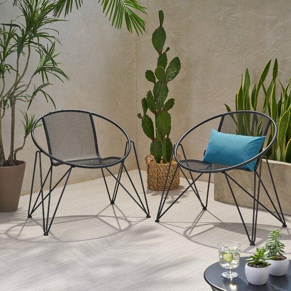 Yoshioka Modern Outdoor Patio Chair (Set of 2) by Ebern Designs