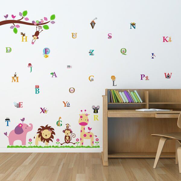 Beaton Huge Elephant Alphabet Wall Decal by Harriet Bee