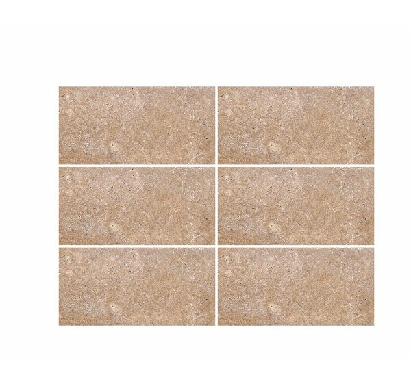 Tumbled 4 x 8 Travertine Subway Tile in Noce by Parvatile