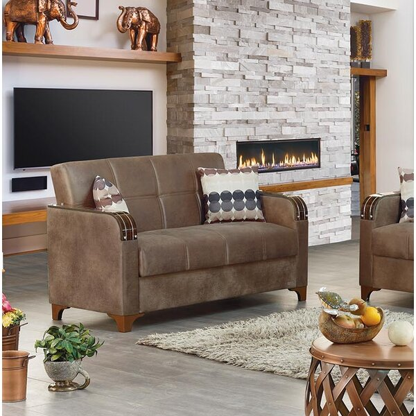 Best Quality Online Meaney Leather Loveseat by Latitude Run by Latitude Run