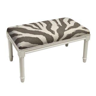 Apolonio Zebra Stripe Wood Bench by House of Hampton SKU:AE618321 Information