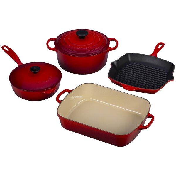 Enameled Cast Iron 6-Piece Signature Cookware Set by Le Creuset